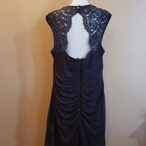 Beautiful Full Length Gray Black Dress Sz 18W